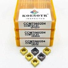 10PCS Hartmetall einfügen CCMT060204 VP15TF CCMT060204 UE6020 inneren runden fräsen werkzeug CNC klinge drehmaschine werkzeuge CCMT 060204 fräsen werkzeug