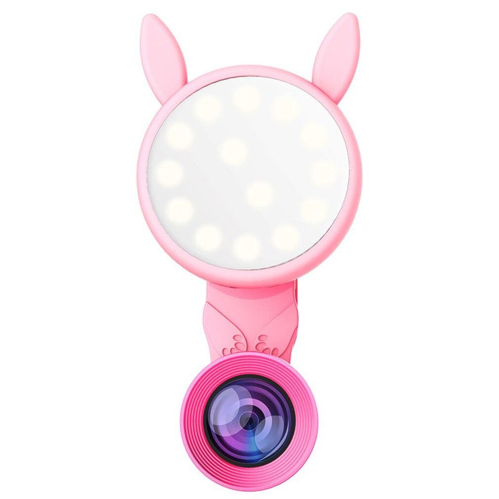 phone lens Led Self timer Light Artifact Live Wide angle Usb Charging Flash Light mobile phone lens Mobile Phone Lens     - title=