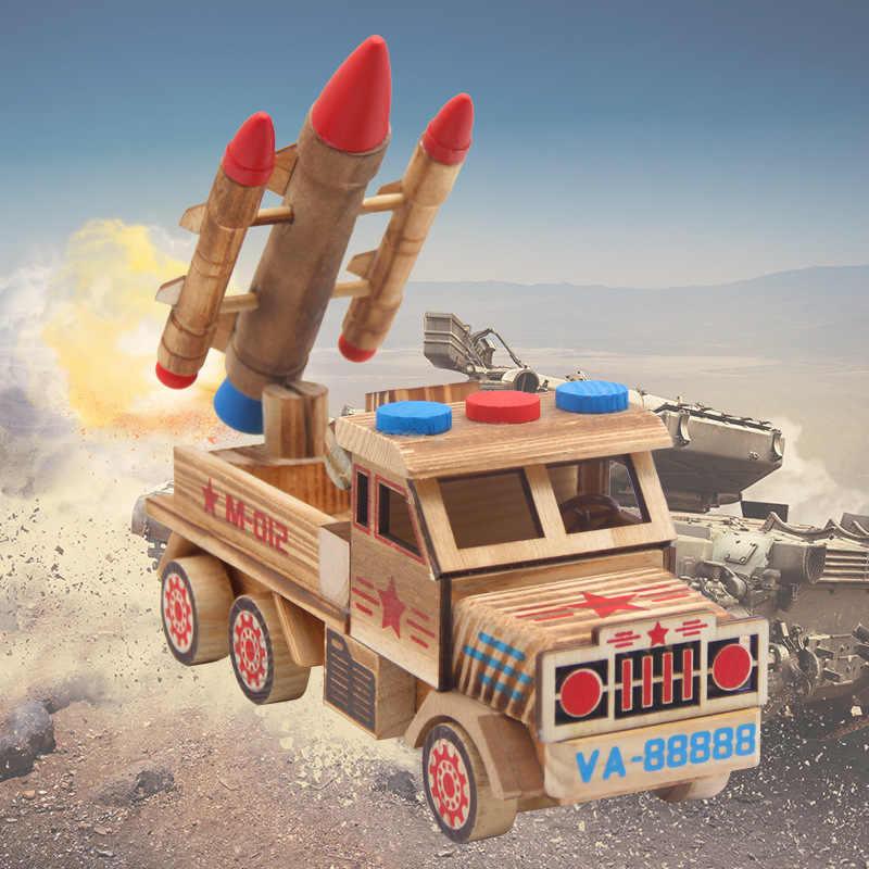 Nieuwe Stijl Creative Houten Model Celebrity Stijl Wolf Warriors Missile Truck Rocket Model Auto Huishoudelijke Decoratie Houten Craftwo