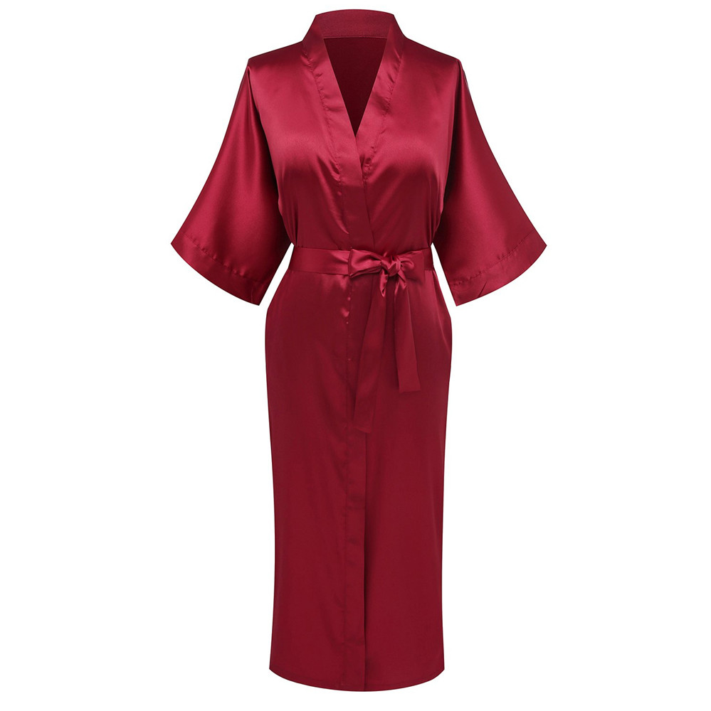 Plus Size 3xl Rayon Bathrobe Women Kimono Satin Long Sexy Lingerie Classic Nightgown Sleepwear With Belt Bride Wedding Robe