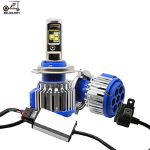 цены 2PCS Car Headlight H7 H4 LED H8/H11/H9 HB3/9005 HB4/9006 H1 H3 9012 H13 9004 9007 80W 8000LM Auto Bulb Headlamp 6000K Light
