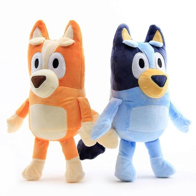 1Pair 28CM Plush Toy Cute Soft Cartoon Dog Family Stuffed Animals Dolls Baby Toys Kawaii Children Gift 1