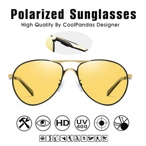 Image 4 - 2020 חדש טייס משקפי שמש גברים מקוטב Photochromic משקפיים נשים יום ראיית לילה נהיגה משקפי UV400 LENTES דה סול hombre