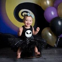2019 Autumn Winter Newborn Baby Clothes Halloween Print Romper+Tutu Skirt Costume Outfits Set 9.19