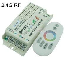 Musik Sound LED Controller 3 CH 9A & 24key IR Fernbedienung; 2,4G musik RGB controller DC12V-24V & RF Fernbedienung Für Led Streifen licht