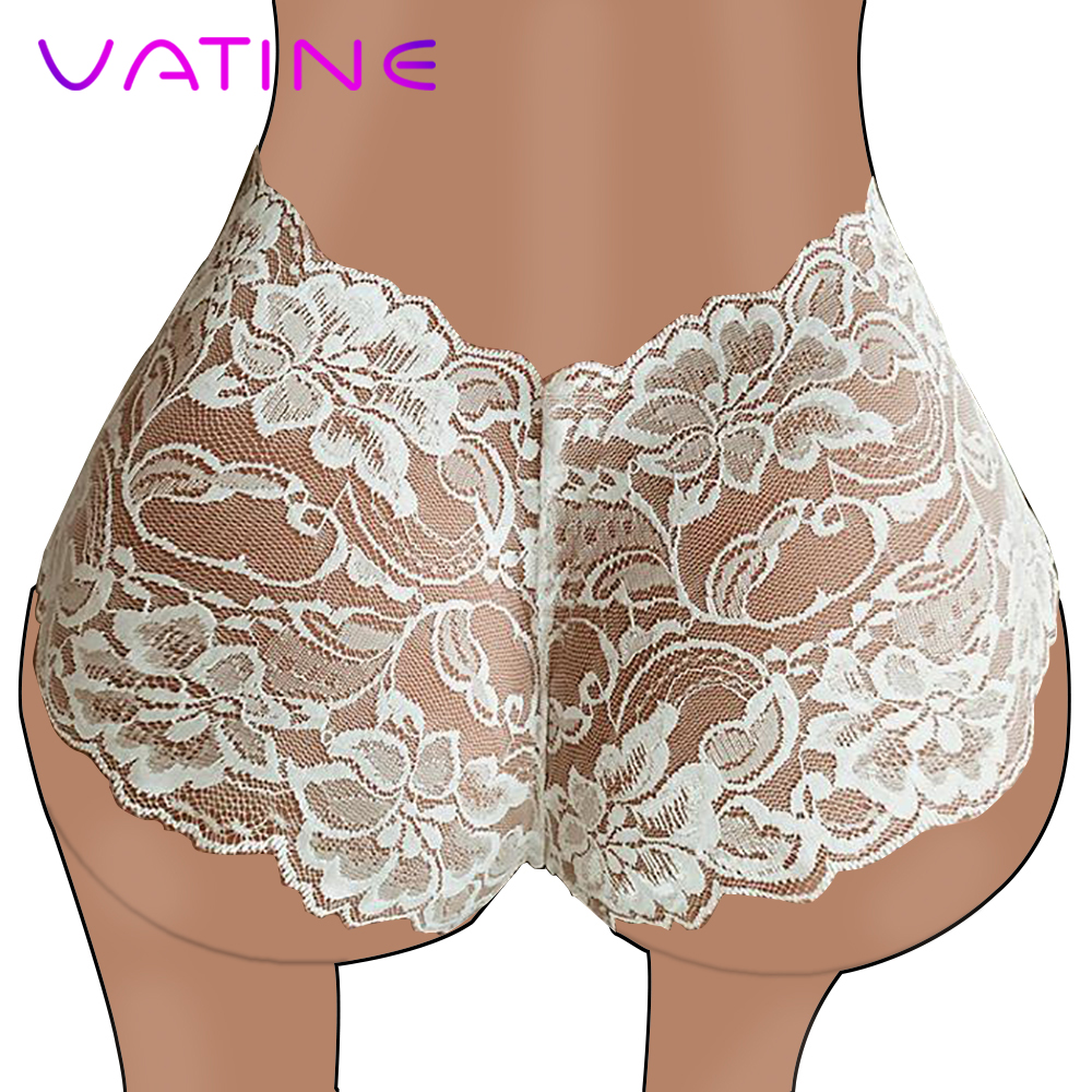 VATINE Sexy Underwear Erotic Lingerie Women's Sexy Thongs High Waist G-string Brief Sexy   Panties   Lace Transparent   Panties