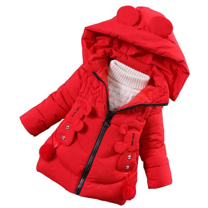 女の子ダウンパーカー冬の子供かわいい女の赤ちゃん choldren 厚手の上着ファッション暖かいコート服パーカージャケット 2019