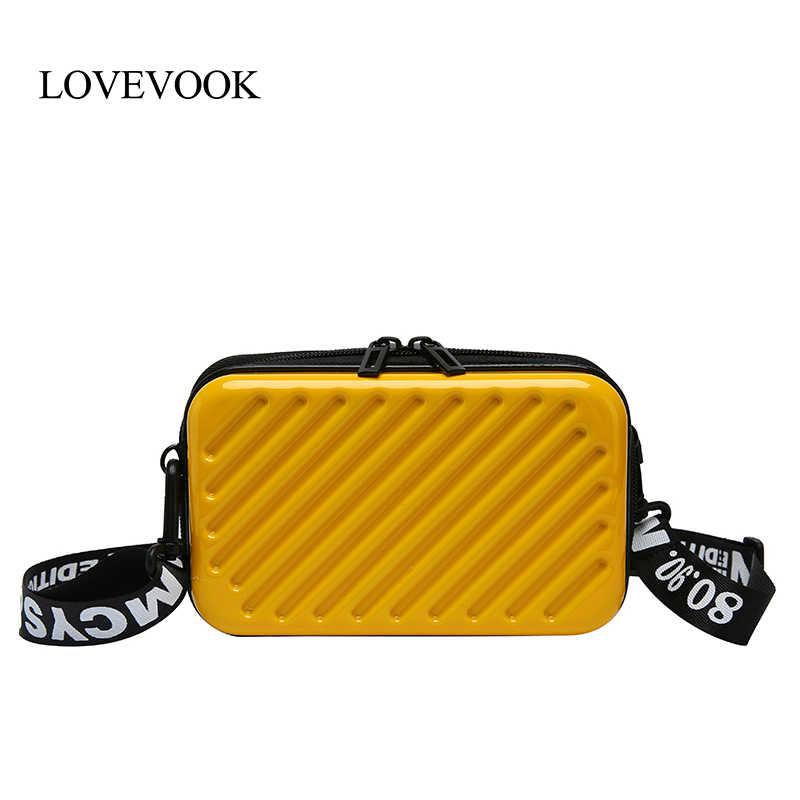 LOVEVOOK umhängetaschen für frauen 2019 mode handtasche weibliche mini koffer machen up tasche für reise multifunktionale Kupplung Klappe