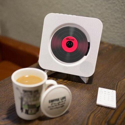 Wall mounted cd player surround som rádio fm bluetooth usb mp3 disk leitor de música portátil controle remoto estéreo alto-falante casa