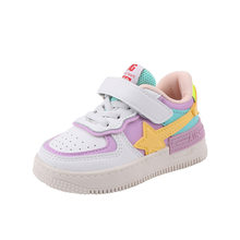 Children's Kids Cartoon Sports Board Shoes Leather Four Seasons Universal New Girls And Boys Shoes Breathable Velcro Comfortable(China)