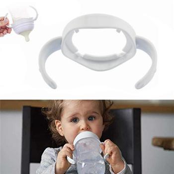 Gorąca sprzedaż uchwyt na butelkę materiały ekologiczne karmienie szkła niemowlę kubek niekapek uchwyty uchwyt dla dziecka butelka dla dziecka akcesoria tanie i dobre opinie abay 4-6 M 7-9 M 10-12 M 13-18 M 19-24 M 2-3Y FS-CO19 White
