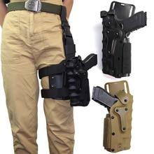 Tactical Left/Right Hand Airsoft Belt Gun Holster Hunting Adjustable Drop Leg Platform For Glock Beretta M92 1911 P226