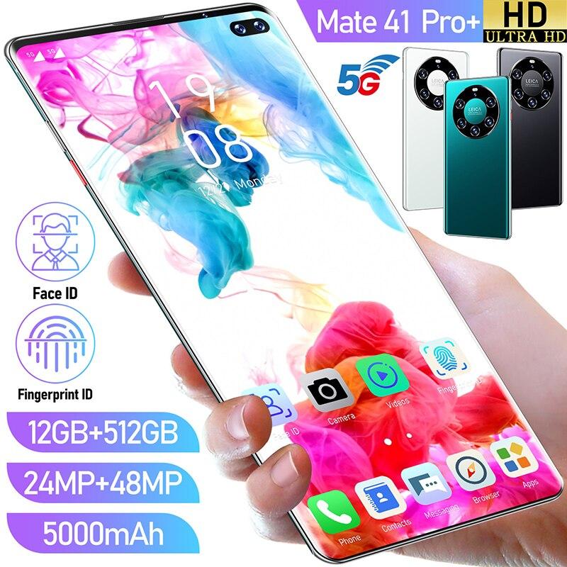 Huawei Mate41Pro + 6.6 inç 4G/ 5G küresel sürüm GPS cep telefonu 12GB + 512GB akıllı telefon yüz kilidini Android 10.0