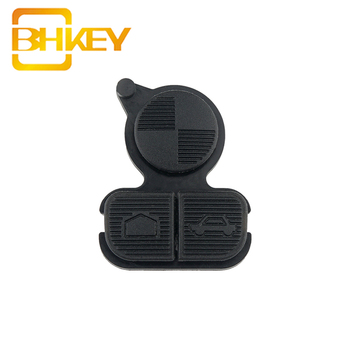 BHKEY for BMW Series 3 5 7 E38 E39 E36 Z3 Z4 Z8 X3 X5 Car Key Shell Cover Case Rubber Key Pad Repair Pad 3 Buttons image