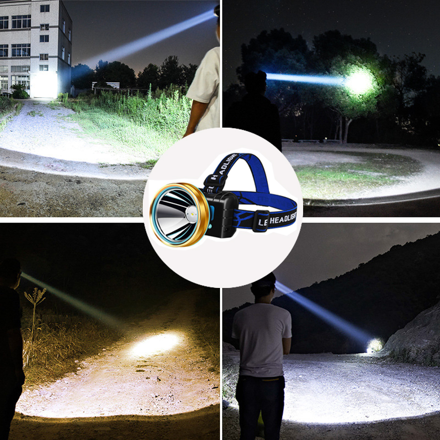 Infrared Induction 35W Super Bright LED Headlamp Flashlight Forehead Headlight Rechargeable Head Torch Lamp Waterproof Camping