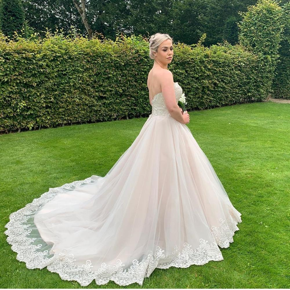 Plus Size Wedding Dress China In Turkey princess With Lace muslim robe princesse mariage high quality gorgeous bridal gowns