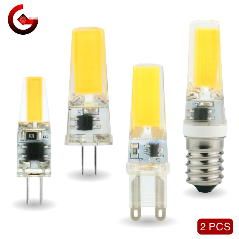 2pcs/lot G4 G9 E14 LED 3W 6W Light Bulb AC/DC 12V 220V LED Lamp COB Spotlight Chandelier Replace Halogen Lamps Cold/Warm White