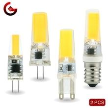 цена на 2pcs/lot G4 G9 E14 LED 3W 6W Light Bulb AC/DC 12V 220V LED Lamp COB Spotlight Chandelier Replace Halogen Lamps Cold/Warm white