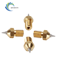 Boquilla de latón para impresora 3d boquilla removible de acero inoxidable para filamentos de 0,2mm, 4 unidades, E3D V6 V5, M6, rosca 0,3, 0,4, 0,5 y 1,75mm