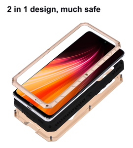 Image 3 - Case For Xiaomi Redmi Note 7 8 9 9T 9S 10 Lite CC9 Pro K20 K30 Max3 Mix2 F1 Shockproof Heavy Duty Tank Aluminum Metal Cover
