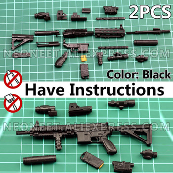 1:6 1/6 Scale Assemble Action Figures Rifle HK416 Model Gun 1/100 Soldier Parts & Components Can Use For Bandai Gundam Model Toy 1 6 4d germany mp7 submachine gun model diy assemble models for 12 inches action figures collections