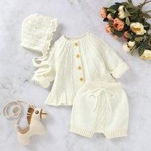 Осенняя одежда для маленьких девочек 3 предмета однотонный кардиган