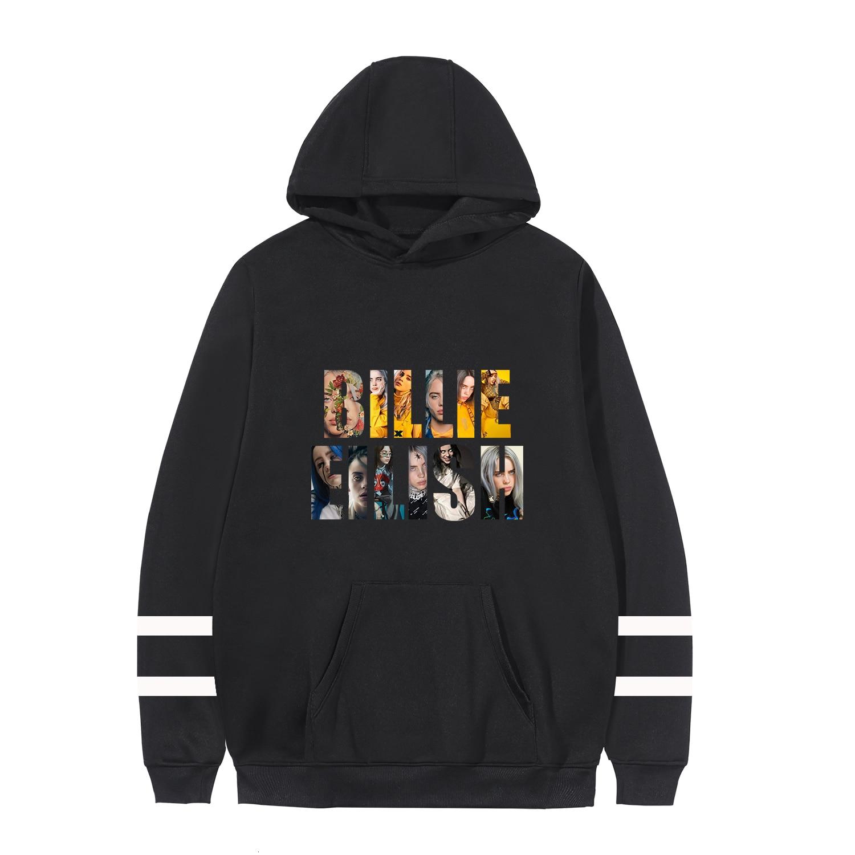 Billie Eilish Oversized Hoodie 2020 Fans Sweatshirt Plus Size 4XL Merchandise Women's Hoodies Sweatshirt Jacket Casual