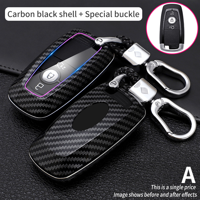 Car Key Case Cover for Ford Fusion Mustang Explorer F250 F150 F350 2017 2018 EcoSport Edge S-MAX Ranger Lincoln Mondeo fiesta