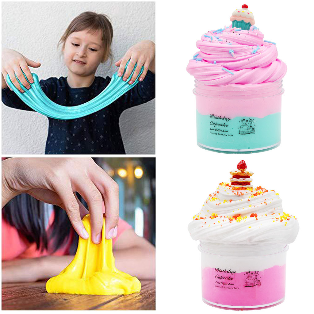 DIY Slime Supplies Cake Kit Cloud Slime Aromatherapy Pressure Children Slime Toy #C