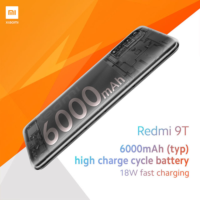 Global Version Xiaomi Redmi 9T 4GB 64GB /4GB 128GB / 6GB 128GB smartphone Snapdragon 662 48MP Rear Camera 6000mAh Non NFC 5