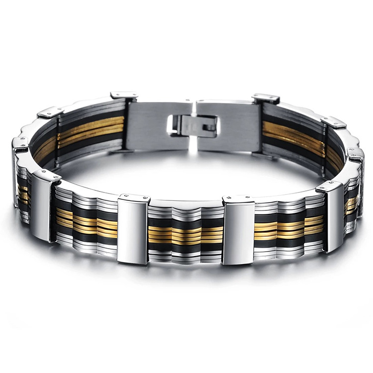 Men s Stainless Steel Bracelet Titanium Steel Simple and Elegant Temperament Wrist Strap Individual Accessories Liberality