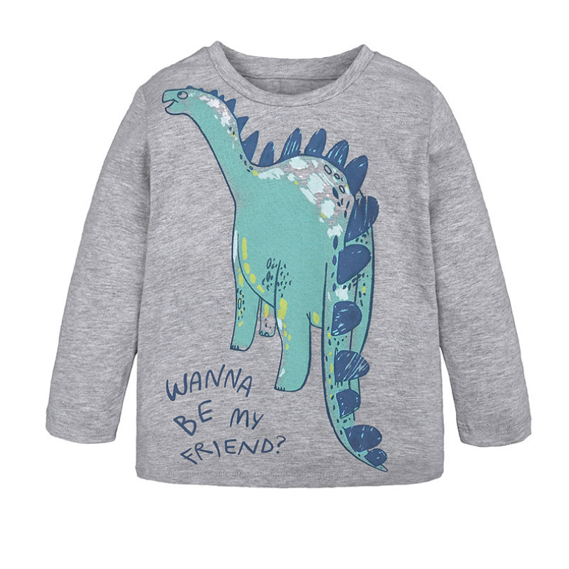 Fashion Autumn New Baby Longsleeve Tshirt Children's Cartoon Round Neck Kids Clothes Baby Boys Bottoming Cotton Shirt