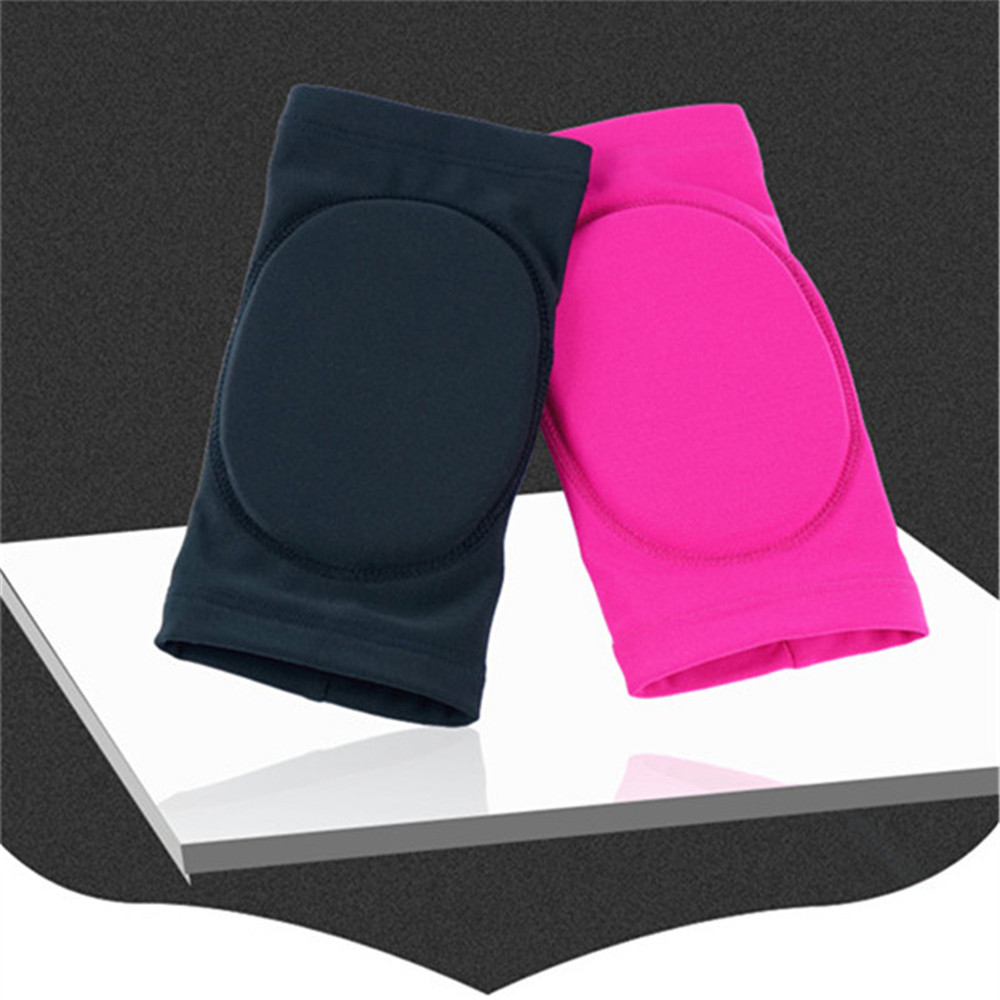 LIUHUO Figure Skating Ice Skating Knee Protector Pad Sports Safety Supporter Protective Mat Protection Black Pink
