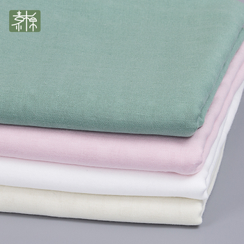 Summer Plain Plain Plain Cloth Bamboo Cotton Dyed Double Gauze Household Clothing Class A Fabric Fluorescent New Products фото