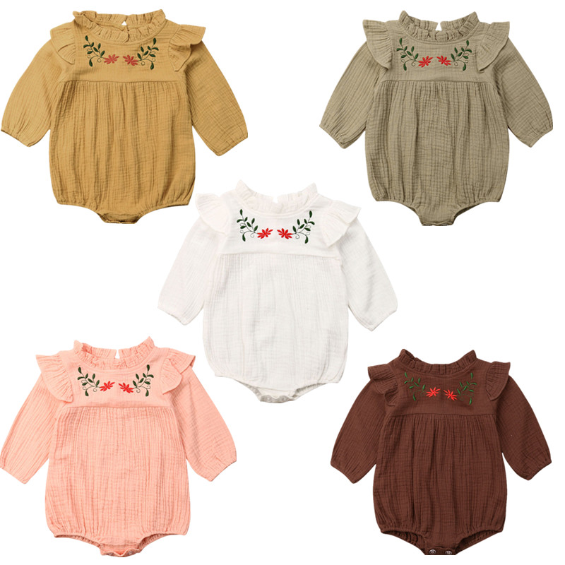 Baby Boy Girl Toddler Newborn Long Sleeve Romper Jumpsuit Clothes Outfit 0-24M