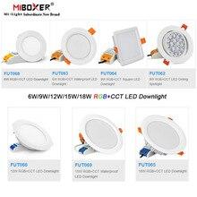 Miboxer 6W/9W/12W/15W/18W RGB + CCTดาวน์ไลท์LedโคมไฟเพดานAC110V 220V FUT062/FUT063/FUT066/FUT068/FUT069/FUT089