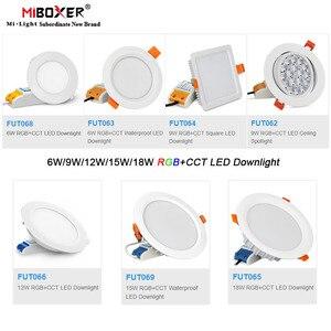 Image 1 - Miboxer 6W/9W/12W/15W/18W RGB+CCT led Downlight Dimmable Ceiling AC110V 220V FUT062/FUT063/FUT066/FUT068/FUT069/FUT089