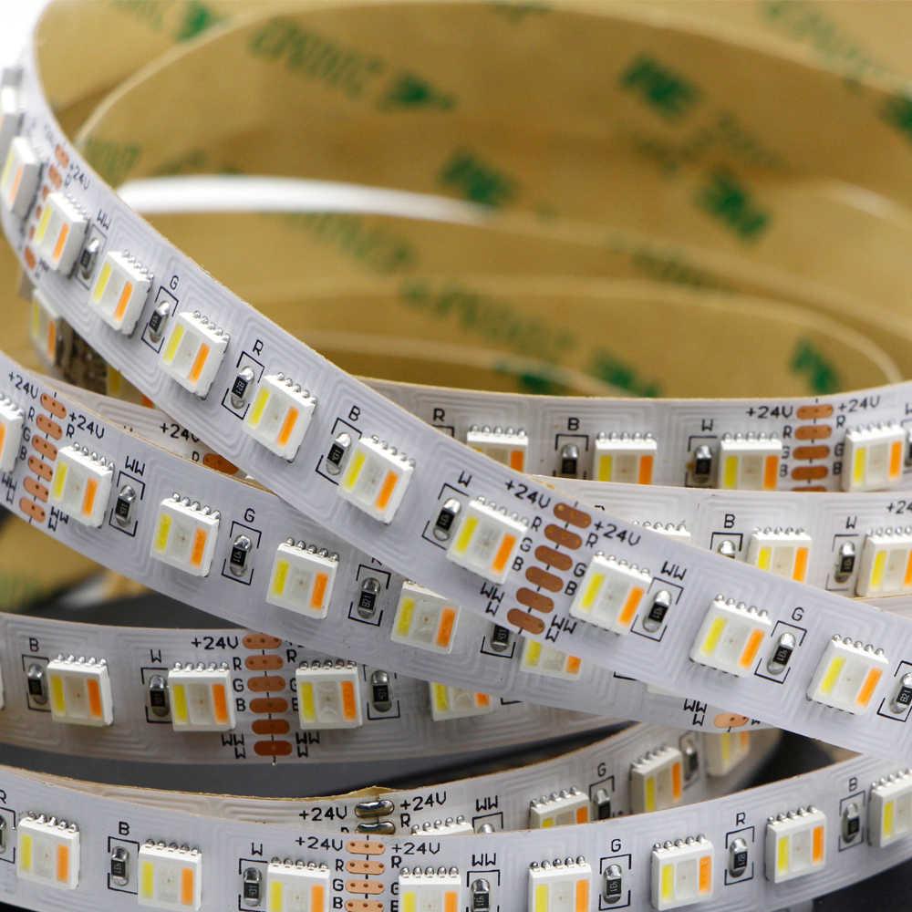 5IN1 RGB + wtc taśmy LED 5050 60 diod LED 30 diod LED 96 diod LED/m 5 kolory w 1 chip CW + RGB + WW RGBW RGBWW elastyczne Led Taśma oświetleniowa DC 12V 24V