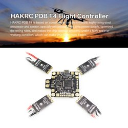 HAKRC PDB F4 Flight Controller Betaflight OSD with 4 in 1 BLHeli 35A ESC For RC Drone FPV Racing Parts Accessory