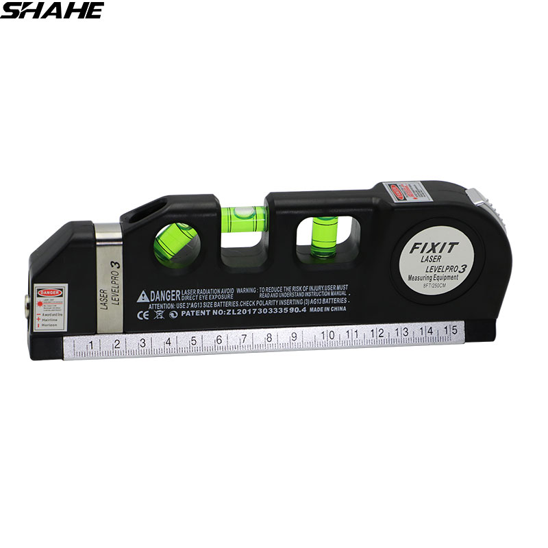 SHAHE Laser Level Vertical Measure Tape Adjusted Horizontal Cross Lines Multipurpose Level Laser With Tripod Cross Project