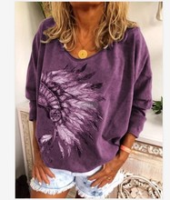 New Women Casual Plus Size T-Shirt Top Fashion Spring and Autumn 2021 Long Sleeve Printed Round Neck Loose Ladies T-Shirt S-5XL