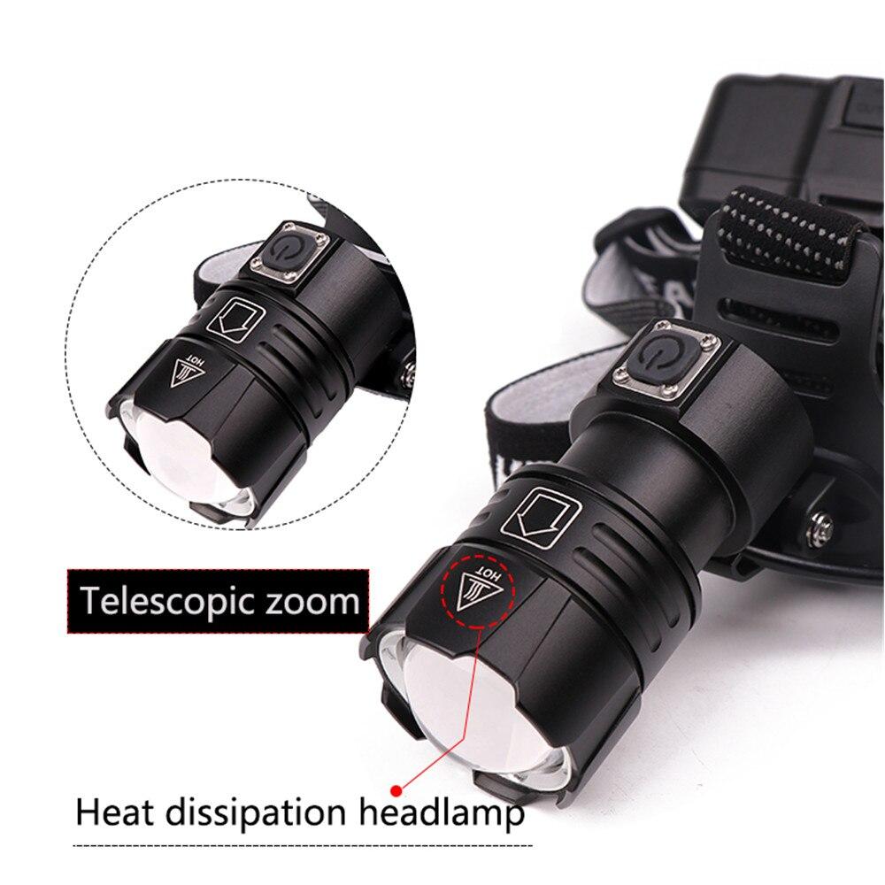 Image 4 - XHP70.2 XHP70 USB Headlight 90000LM Led Headlamp LED Rechargeable Head Torch Flashlight Lantern 3*18650 battery Powerbank-in Headlamps from Lights & Lighting