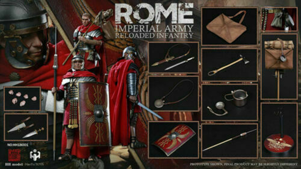 Full set doll 1 6 HaoYu TOYS HH18001 Rome Imperial Army Reloaded infantry Figure Collectible for fans toys figure doll in Action Toy Figures from Toys Hobbies