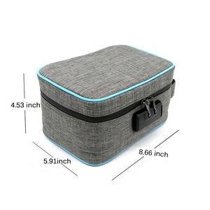 Image 5 - Odor Proof Stash Case Container For Herbs Medicine Lock Smell Proof Bag Box Bag Travel Storage Case