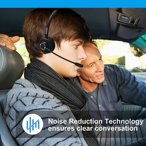 Image 2 - Noise Cancelling Wireless Video Conference With Charging Base Microphone Bluetooth Headset Aviation Handsfree Truck Driver Mono