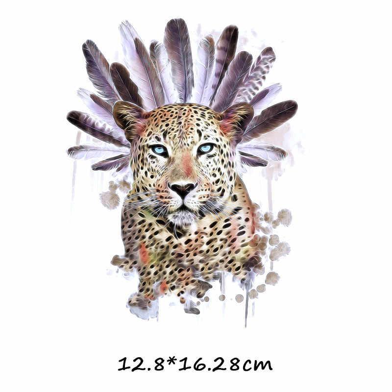 Trasferimento di Calore di Ferro su Applique Tigre Del Vinile Adesivo Patch di Vestiti Toppe E Stemmi Vendita Calda 1 Pc di Alta Qualità Vestiti Tessuto Leoni distintivo