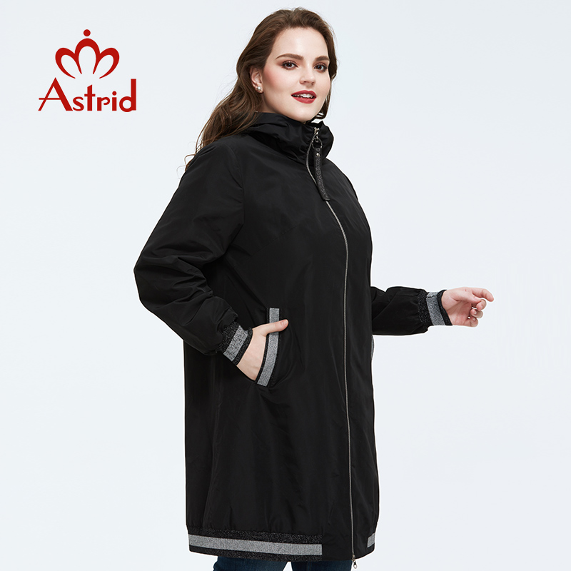 Astrid 2020 Spring new arrival trench coat for women outerwear high quality plus size long style spring coat women AS-9373