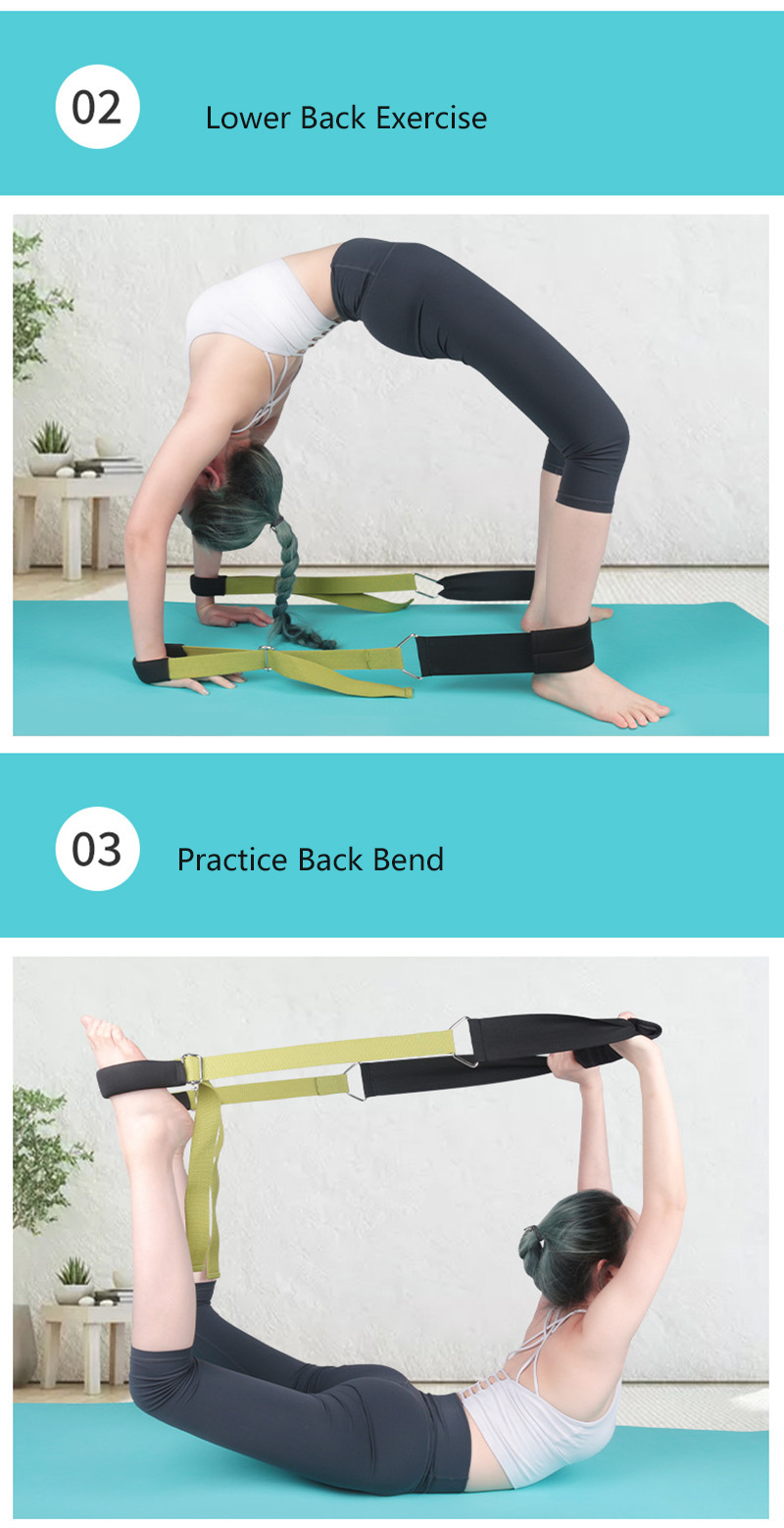 Yoga esportes puxar cinta multi-funcional lncrease perna