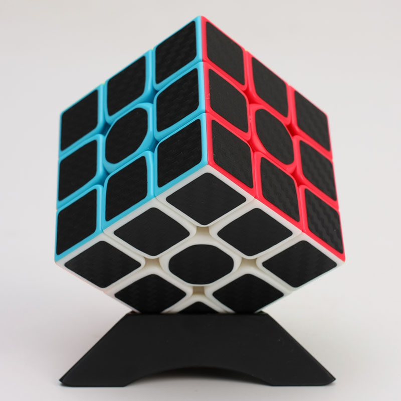ZCUBE 3x3x3 Carbon Fiber Sticker Magic Cube Puzzle 3x3 Speed Cubo Magico Square Puzzle Gifts Educational Toys For Children