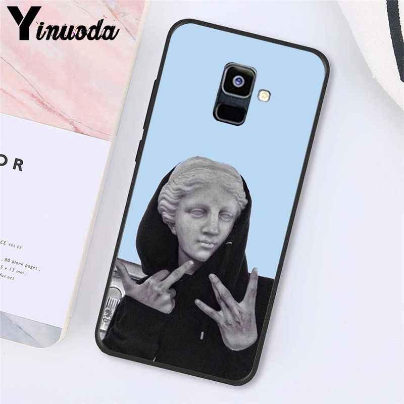 Yinuoda מופשט אמנות קווים דוד אסתטי אמנות ציור מקרה טלפון עבור Samsung Galaxy A7 A50 A70 A40 A20 A30 A8 a6 A8 בתוספת A9